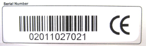 Serial number label